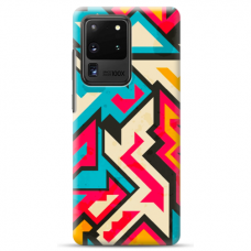 "Samsung Galaxy S20 ultra silicone phone case with unique design 1.0 mm ""u-case airskin Pattern 7 design"""