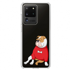 "Samsung Galaxy S20 ultra silicone phone case with unique design 1.0 mm ""u-case airskin Doggo 5 design"""