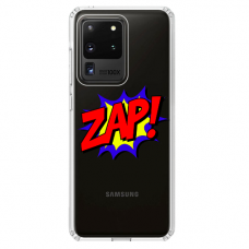 "Samsung Galaxy S20 ultra silicone phone case with unique design 1.0 mm ""u-case airskin ZAP design"""