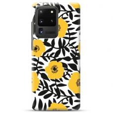 "Samsung Galaxy S20 ultra Unique Silicone Case 1.0 mm ""u-case airskin Flowers 2 design"""