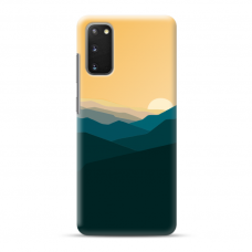 "Samsung Galaxy S20 Unique Silicone Case 1.0 mm ""u-case Airskin Mountains 2 design"""