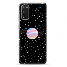 "Samsung Galaxy S20 Unique Silicone Case 1.0 mm ""u-case Airskin Planet design"""