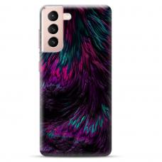 "Samsung Galaxy S21 Plus Unique Silicone Case 1.0 mm ""u-case Airskin Feather design"""