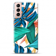 "Samsung Galaxy S21 Plus Unique Silicone Case 1.0 mm ""u-case Airskin Leaves 1 design"""