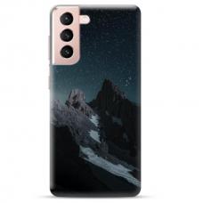 "Samsung Galaxy S21 Plus Unique Silicone Case 1.0 mm ""u-case Airskin Mountains 1 design"""
