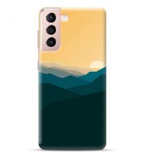 "Samsung Galaxy S21 Plus Unique Silicone Case 1.0 mm ""u-case Airskin Mountains 2 design"""