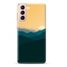 "Samsung Galaxy S21 Unique Silicone Case 1.0 mm ""u-case Airskin Mountains 2 design"""