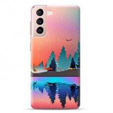 "Samsung Galaxy S21 Unique Silicone Case 1.0 mm ""u-case Airskin Nature 5 design"""