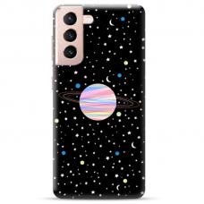 "Samsung Galaxy S21 Unique Silicone Case 1.0 mm ""u-case Airskin Planet design"""