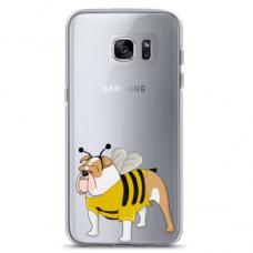 "Samsung Galaxy S7 edge silicone phone case with unique design 1.0 mm ""u-case Airskin Doggo 1 design"""