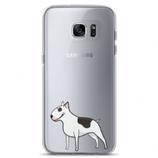 "Samsung Galaxy S7 edge silicone phone case with unique design 1.0 mm ""u-case Airskin Doggo 3 design"""