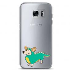"Samsung Galaxy S7 edge silicone phone case with unique design 1.0 mm ""u-case Airskin Doggo 4 design"""
