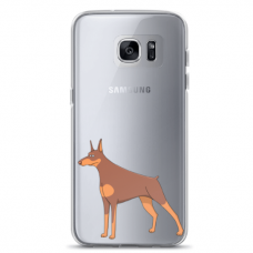 "Samsung Galaxy S7 edge silicone phone case with unique design 1.0 mm ""u-case Airskin Doggo 6 design"""