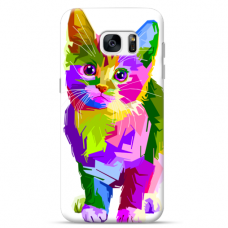 "Samsung Galaxy S7 edge silicone phone case with unique design 1.0 mm ""u-case Airskin Kitty design"""