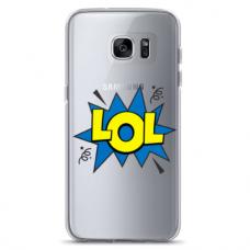 "Samsung Galaxy S7 Edge silicone phone case with unique design 1.0 mm ""u-case Airskin LOL design"""
