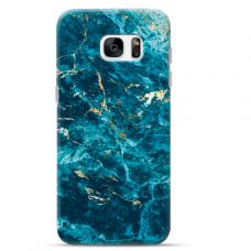 "Samsung Galaxy S7 edge silicone phone case with unique design 1.0 mm ""u-case Airskin Marble 2 design"""
