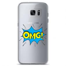 "Samsung Galaxy S7 Edge silicone phone case with unique design 1.0 mm ""u-case Airskin OMG design"""