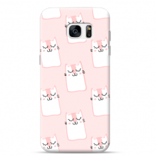 "Samsung Galaxy S7 Edge silicone phone case with unique design 1.0 mm ""u-case Airskin Pink Kato design"""