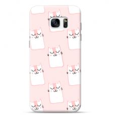 """Samsung Galaxy S7 Edge Unique Silicone Case 1.0 mm """"u-case Airskin Pink Kato design"""""""