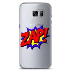 "Samsung Galaxy S7 edge silicone phone case with unique design 1.0 mm ""u-case airskin ZAP design"""