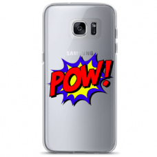 "Samsung Galaxy S7 edge silicone phone case with unique design 1.0 mm ""u-case airskin POW design"""
