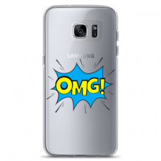 "Samsung Galaxy S7 Unique Silicone Case 1.0 mm ""u-case Airskin OMG design"""