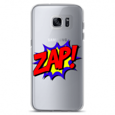 "Samsung Galaxy S7 silicone phone case with unique design 1.0 mm ""u-case airskin ZAP design"""