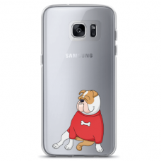 "Samsung Galaxy S7 TPU case with unique design 1.0 mm ""u-case Airskin Doggo 5 design"""
