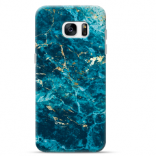 "Samsung Galaxy S7 TPU case with unique design 1.0 mm ""u-case Airskin Marble 2 design"""