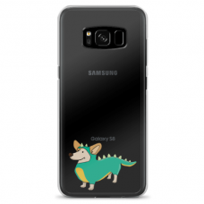 "Samsung Galaxy S8 plus silicone phone case with unique design 1.0 mm ""u-case Airskin Doggo 4 design"""