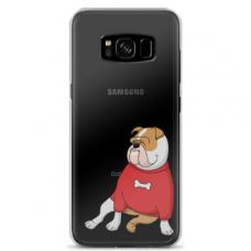 "Samsung Galaxy S8 plus silicone phone case with unique design 1.0 mm ""u-case Airskin Doggo 5 design"""