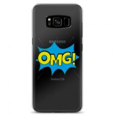 "Samsung Galaxy S8 plus Unique Silicone Case 1.0 mm ""u-case Airskin OMG design"""
