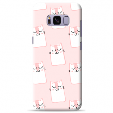 "Samsung Galaxy S8 plus Unique Silicone Case 1.0 mm ""u-case Airskin Pink Kato design"""