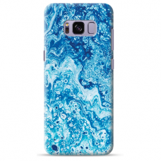 "Samsung Galaxy S8 silicone phone case with unique design 1.0 mm ""u-case Airskin Marble 3 design"""