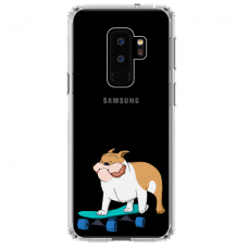 "Samsung Galaxy S9 plus silicone phone case with unique design 1.0 mm ""u-case Airskin Doggo 2 design"""
