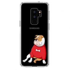 "Samsung Galaxy S9 plus silicone phone case with unique design 1.0 mm ""u-case Airskin Doggo 5 design"""