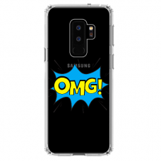 "Samsung Galaxy S9 plus silicone phone case with unique design 1.0 mm ""u-case Airskin OMG design"""