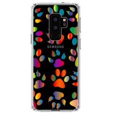 "Samsung Galaxy S9 plus silicone phone case with unique design 1.0 mm ""u-case Airskin PAW design"""