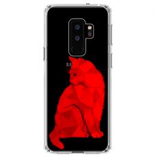 "Samsung Galaxy S9 plus silicone phone case with unique design 1.0 mm ""u-case Airskin Red Cat design"""