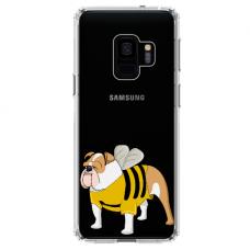 "Samsung Galaxy S9 silicone phone case with unique design 1.0 mm ""u-case Airskin Doggo 1 design"""