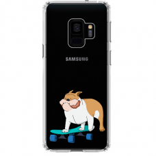 "Samsung Galaxy S9 silicone phone case with unique design 1.0 mm ""u-case Airskin Doggo 2 design"""