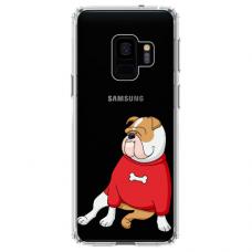 "Samsung Galaxy S9 silicone phone case with unique design 1.0 mm ""u-case Airskin Doggo 5 design"""