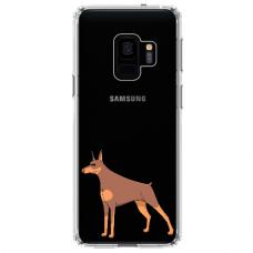 "Samsung Galaxy S9 silicone phone case with unique design 1.0 mm ""u-case Airskin Doggo 6 design"""