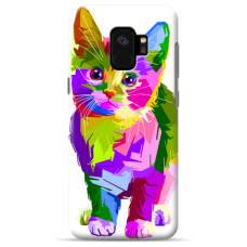 "Samsung Galaxy S9 Unique Silicone Case 1.0 mm ""u-case Airskin Kitty design"""