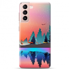 """Samsung S21 Plus Unique Silicone Case 1.0 mm """"u-case Airskin Nature 5 design"""""""
