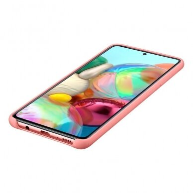 Samsung Silicone Cover Flexible Gel Case for Samsung Galaxy A71 pink (EF-PA715TPEGEU) 3