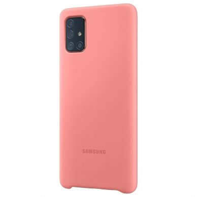 Samsung Silicone Cover Flexible Gel Case for Samsung Galaxy A71 pink (EF-PA715TPEGEU) 4