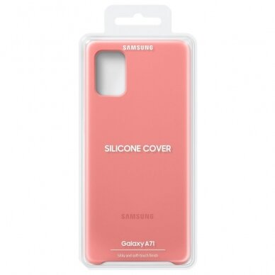 Samsung Silicone Cover Flexible Gel Case for Samsung Galaxy A71 pink (EF-PA715TPEGEU) 6