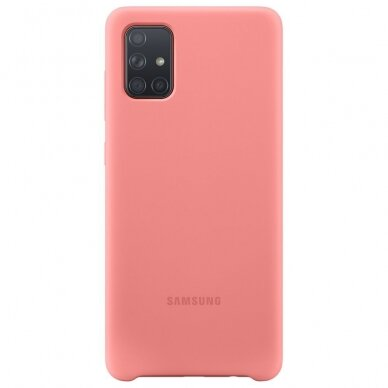 Samsung Silicone Cover Flexible Gel Case for Samsung Galaxy A71 pink (EF-PA715TPEGEU)