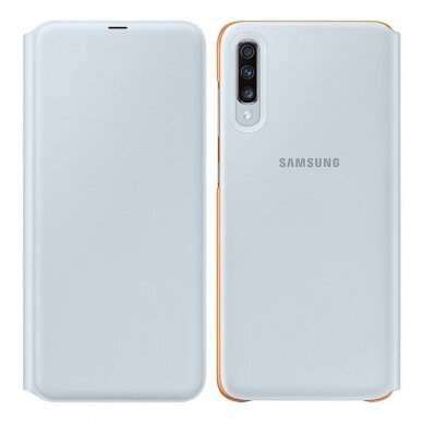 Samsung Wallet Cover Bookcase with Card Slot for Samsung Galaxy A70 white (EF-WA705PWEGWW)